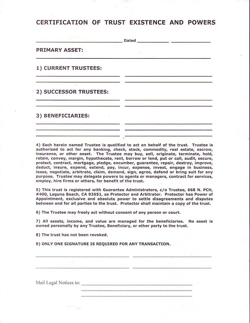 Index of formsrealestatejbook certificationoftrust 2009 05 13 xflitez Images
